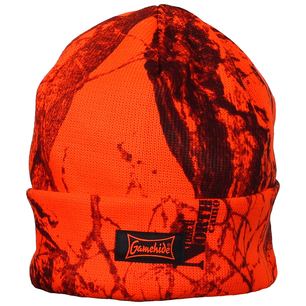Gamehide Knit Hat - Orange Camo - eders.com 3c39403da05