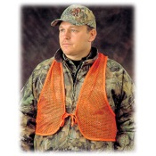 H.S. Orange Mesh Safety Vest, One Size, Blaze Org