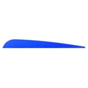 AAE Elite Plastic Fletch Vanes, 3.875, 100/pk., Blue
