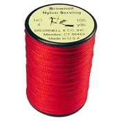 Brownell Nylon Serving Thread, 100 yds., Red, .021 Dia.