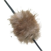 Mountain Man Beaver Balls String Silencer, 1 pr./pk., Natural Brown