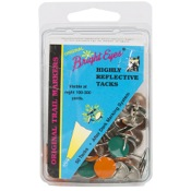 Lewis Colored Tacks, 50/pk, 25Grn, 25Org, Round