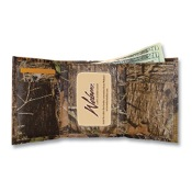 Weber Camo Leather Tri-Fold Wallet, New BrkUp