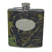 Weber Leather Flask, 6oz, New BrkUp, SS/Leather