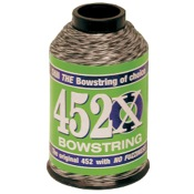 BCY 452X String Material, 1/4 lb., Tan/Blk
