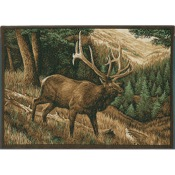 "CR Roaming High Country Elk Rug, 36""x52"", Nylon"