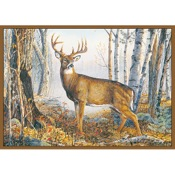 """CR Whitetail Deer Rug, 36""""x52"""", Nylon"""