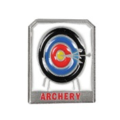 "Empire Archery Target Pin, 1""x2"", Pewter"
