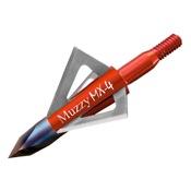 "Muzzy MX-4 4 Blade Broadheads, 3/pk, 100gr, BH, 1 1/8"" Dia., .025"" Thick"