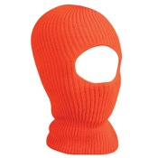 Outdoor Cap Knit Eyehole Face Mask, One Size, Blaze Or, Acrylic