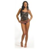 Weber Pink-Belted Camo Swim Bottom, Md