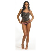 Weber Camo Swil Pink-Belted Bottom, Lg, BreakUp Pink
