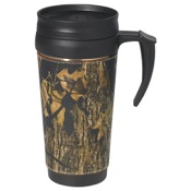 Weber Camo Leather Travel Mug, BU, with Handle