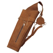 "Neet T-BQ-2 Leather Back Quiver, 22"", Brown, Suede, RH"