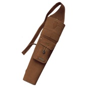 "Neet T-BQ-3 Medium Back Quiver, 18 1/2"", Brown, Suede, RH"
