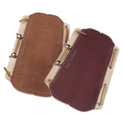 "Neet T-AGL Lace-On Armguard, 7 3/4""x5 1/2"", Brown, Suede"