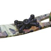 Bowjax Monster Jax Limb Dampeners, 2/pk, Black, Solid Limb