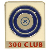 "Empire 300 Club Pin, 2""x1"", Pewter"