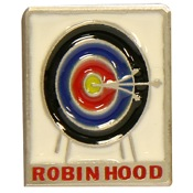"Empire Robinhood Pewter Pin, 2""x1"", Pewter"