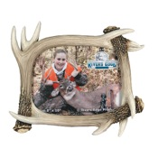 "Rivers Edge Deer Antler Picture Frame, 8""x10"""