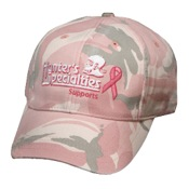 H.S. Pink Camo Breast Cancer Awareness Cap, One Size