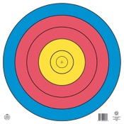 Maple Leaf FITA Waterproof Target, 80cm, 5-Ring