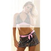 Weber Pretty In Pink Swim Belted Skirt, Sm, BreakUp Pink