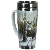 Rivers Edge Stainless Steel Mug - Deer, 16oz.