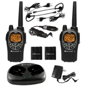 Midland GXT1000 GMRS 2 Way Radios w/Ear/Mic & Charger, 5 Watt, pr., 50 Chl, 30 Mile