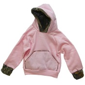 BCS Hooded Pink Sweatshirt, 6-12 mnths, Pink/Camo