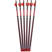 "Parker Red Hot High Velocity Carbon Arrows 20"", 20"", 6/pk., Fusion Vanes"