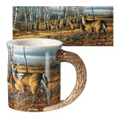 Wild Wings Sculpted Mugs - The Birch Line, 16oz., Antler Handle