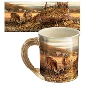 Wild Wings Sculpted Mugs - Sharing the Bounty, 16oz., Antler Handle