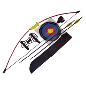 "Arrow Precision Ram Bow Recurve Youth Archery Set, to 21"" Draw Length, 10lbs, RH/LH"