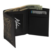 Weber Combo Camo Leather Tri-Fold Wallet, BrkUp/Brn, Tri-Fold