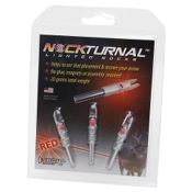 NockTurnal Lighted Nock - GT - 3/pk., GT, 3/pk., Red, Gold Tip
