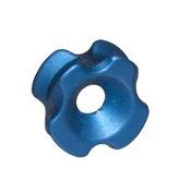 "String Love Tri-View Ultra_Light Peep, 3/16"", Blue, Aluminum"