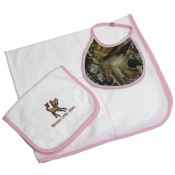 BCS 4 Pc Baby Gift Set, Pink/MO, Terry