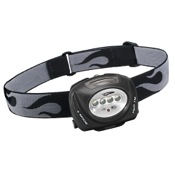 Princeton Tec Quad Tactical Headlamp, 45 Lumens, Black, Changeable Lenses