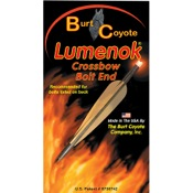 Burt Coyote Crossbow Bolt Lumenok - Gold Tip, 3/pk., 34.8gr, Red, Flat