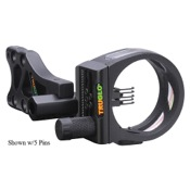 "TruGlo TSX Pro Sight w/Light, Black, 3 Pin .019"", RH/LH"