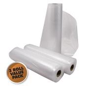 "Weston Vacuum Sealer Rolls, 11""x18?, 3/pk., 3 Rolls"