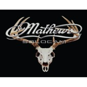 "DWD Mathews Skull Decal, 10""x8"", Silver"
