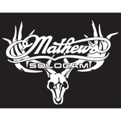 "DWD Mathews White Skull Decal, 11""x7"", White"
