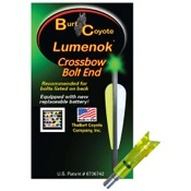Burt Coyote Crossbow Bolt Lumenok - Gold Tip, 3/pk., 34.8gr, Green, Moon