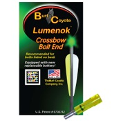 Burt Coyote Crossbow Bolt Lumenok - Gold Tip, 3/pk., 34.8gr, Green, Flat