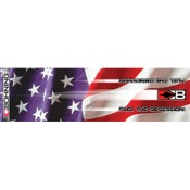 "Bohning Stars & Stripes HD Arrow Wrap, 4"", 13/pk., Carbon"