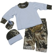 BCS L/S Blue Jumper Set, 3-6 Mnths, Blue/MossyOak