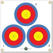 """Arrowmat Foam Rubber Target Face - 3 Spot, 17""""x17"""""""