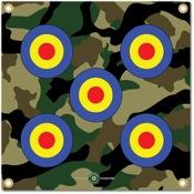"Arrowmat Foam Rubber Target Face - Camo Bullseye, 17""x17"""
